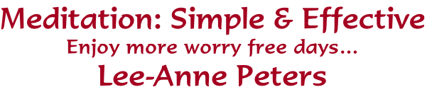 Meditation: Simple & Effective
